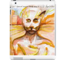 Journal page - Cat people dream  iPad Case/Skin