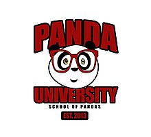 Panda University - Red Photographic Print