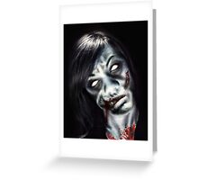 Zombie Kay Greeting Card