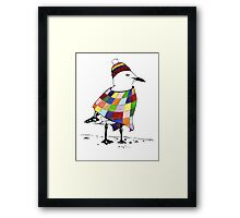 Chilli the Seagull T-shirt Framed Print