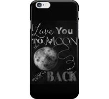 Sweet Luna Love chalkboard typography chalkboard art iPhone Case/Skin