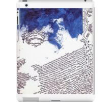 Journal page-nefertiti blue iPad Case/Skin