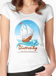 Diversity Women's Fitted Scoop T-Shirt
