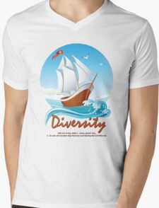 Diversity Mens V-Neck T-Shirt