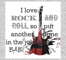 I LOVE ROCK AND ROLL Baby Tee