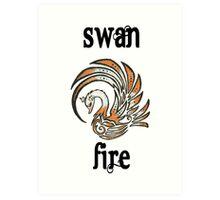 Swan Fire Merchandise Art Print