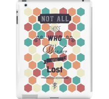Wander ≠ Lost iPad Case/Skin