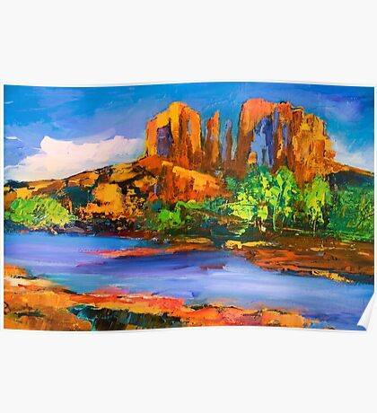Cathedral Rock Afternoon Poster