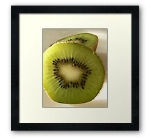Hairy green and delicous Framed Print