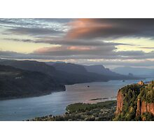Sunset on Crown Point Photographic Print