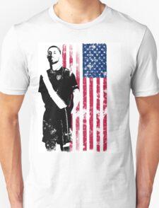 Dempsey with USA Flag T-Shirt