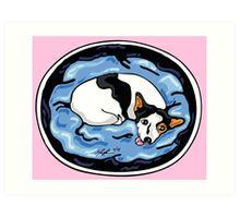 Jackie - pink Art Print
