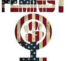FEMINIST DESIGN AMERICAN FLAG by designbook