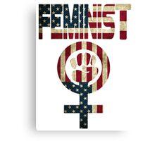 FEMINIST DESIGN AMERICAN FLAG Canvas Print