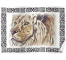 African Lion - Ethnic series Poster
