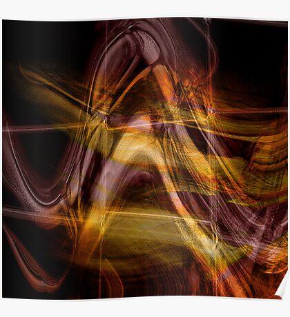 spiritual light..... strata lines Poster