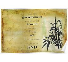 At any given moment... Poster