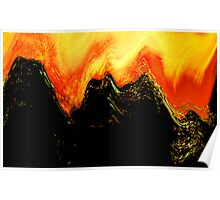 lava dragon.... abstract eruption Poster