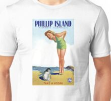 Phillip Island Victoria Australia Vintage Poster Restored Unisex T-Shirt