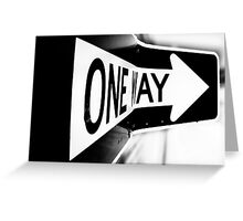 One Way? Greeting Card