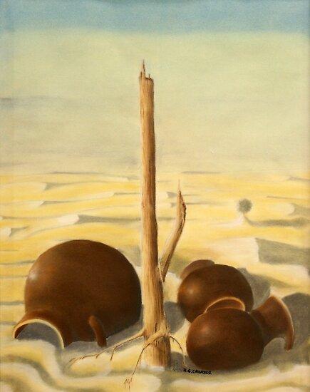 Jarros en el desierto 2 by Heberto   G. Cavazoz