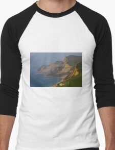 Cliffs At Jurassic Coast, Dorset Men's Baseball ¾ T-Shirt