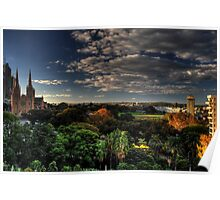 HDR - St Mary's Cathedral and Phillip Park Sydney Poster