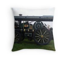 Old Steam Engine 3 Throw Pillow