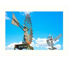 Wacky Windmills.... Art Print