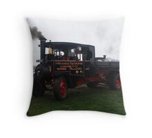 Old Steam Engine 9 Throw Pillow
