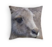 wallaby portrait Throw Pillow