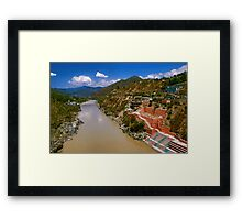 Dev Prayag, Garhwal Framed Print