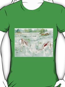 Sketching in the Game Reserve - Springbuck T-Shirt