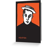 1920s Buster Keaton Portrait Greeting Card