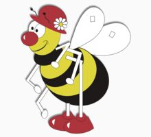 Cute Cartoon Buzzy Bee  Kids Clothes