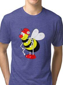 Cute Cartoon Buzzy Bee  Tri-blend T-Shirt