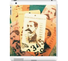 Vintage tag 4 iPad Case/Skin