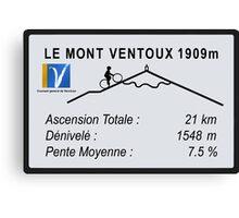 Mont Ventoux Road Sign Replica Print or Metal Canvas Print