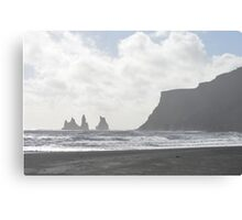 Misty day in Vik Canvas Print