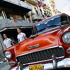 Old Chevy Street scene, Havana, Cuba by buttonpresser