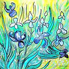 Lilies - My Hommage to Van Gogh by Caroline  Lembke