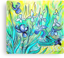 Lilies - My Hommage to Van Gogh Canvas Print