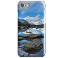 Mountain reflections of Jungfrau, Eiger and Mönch iPhone Case/Skin