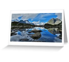 Mountain reflections of Jungfrau, Eiger and Mönch Greeting Card