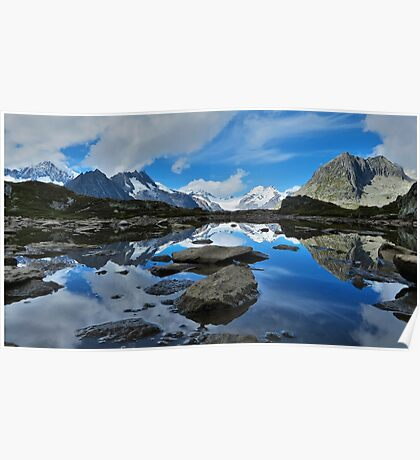 Mountain reflections of Jungfrau, Eiger and Mönch Poster