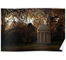 Winter Afternoon in Fitzroy Gardens, Melbourne, Australia Poster