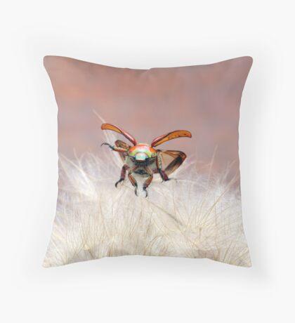 Christmas Beetle Macro  Throw Pillow