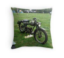 Old Motorbikes Throw Pillow