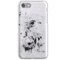 Contraintes et Abandon #9 - Monotype on Wenzhou Paper + pieces of paper sewn iPhone Case/Skin