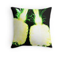 Yellow Pineapple - www.lizgarnett.com Throw Pillow